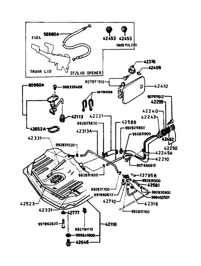 1986 Mazda B2000 Hose  Vent  Cut
