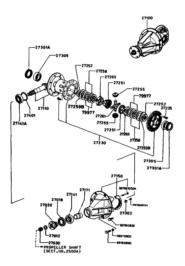 Diagram DIFFERENTIAL (REAR DISC BRAKES) (GSL, GSL-SE) for your Mazda Miata