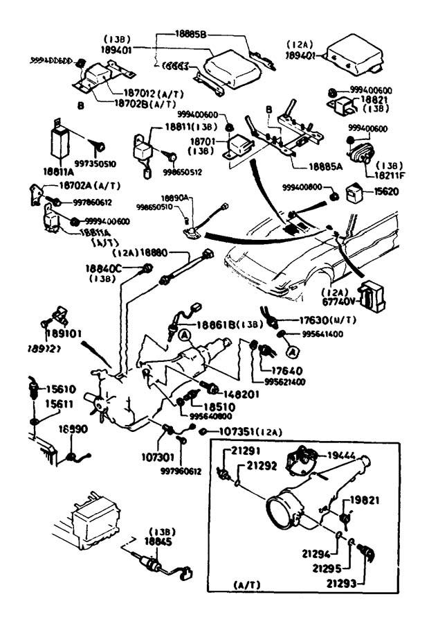 1989 Mazda Rx-7 Sensor  Water  Temp  Denso