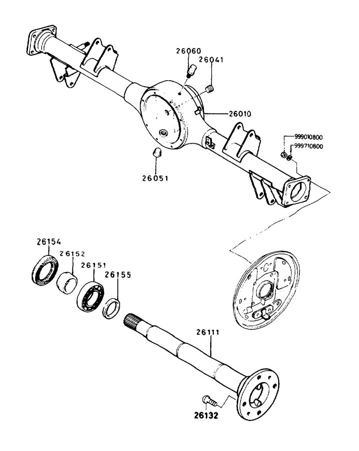 Diagram REAR AXLE for your 2005 Mazda Miata