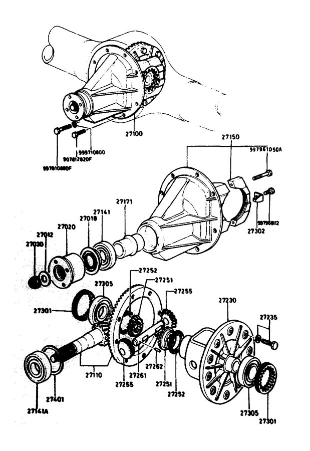 Diagram DIFFERENTIAL for your Mazda Miata