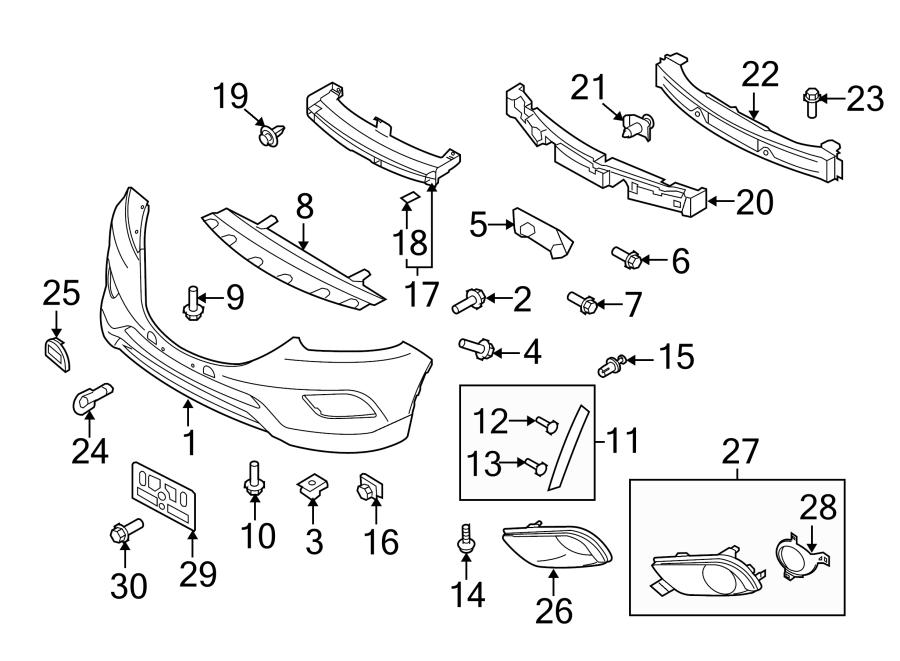 Mazda Cx-9 Nut  Clip  Brackets  Splash  Under