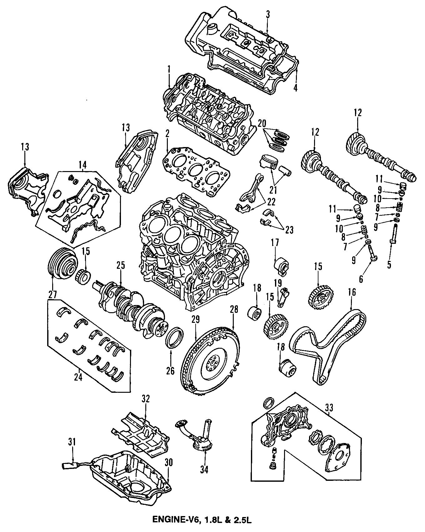 2001 Mazda 626 Engine Timing Belt - KL0112205 9U   Jim ...